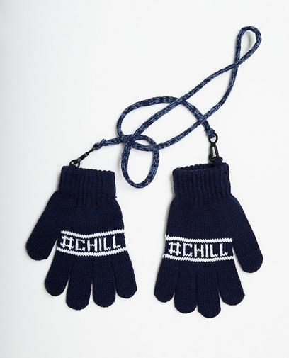 Donkerblauwe handschoenen